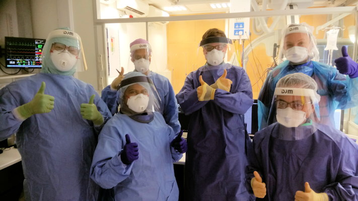 The interventional neuroradiology team at King