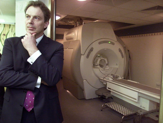 The radiology department at QEH made national headlines in May 2001, when former British Prime Minister Tony Blair paid a visit