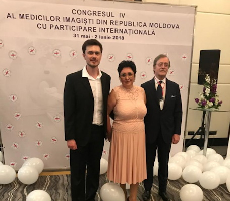 Dr. Natalia Rotaru at a medical conference in 2018