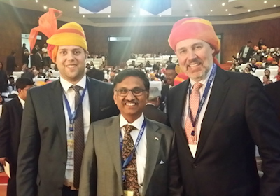 Parizel as an honorary lecturer and VIP guest at the 70th Annual Conference of the Indian Radiological and Imaging Association in Jaipur in January 2017