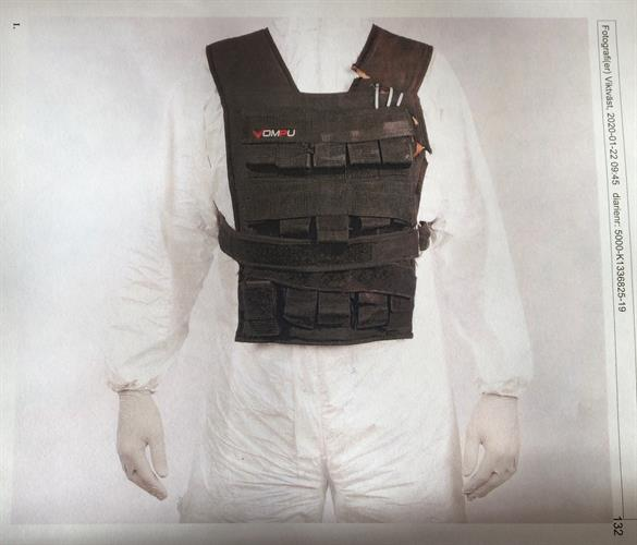 Front panel of the vest worn by the specialist nurse