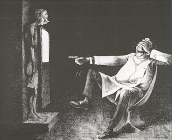 Fig. 5: Radiologist and patient, by Claude Serre